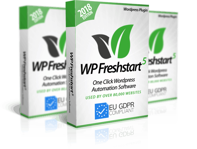 WP Freshstart 5 Review – Create Fully Loaded, GDPR compliant WordPress Sites in 60 seconds.